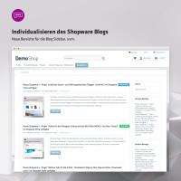 Individualisieren des Shopware Blogs (neue Bereiche für die Blog Sidebar, uvm.)